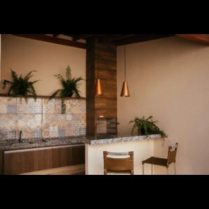Área de churrasco 01 - Residencial Flórida II - Leme