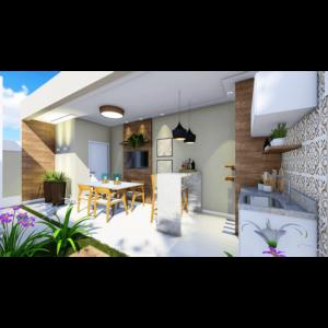 Área de churrasco 01 - Residencial Sylvio Venturolli - Araçatuba