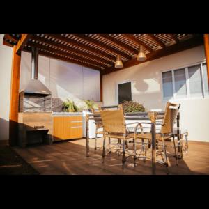 Área de churrasco 03 - Residencial Flórida II - Leme