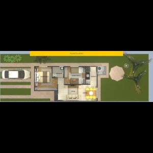 Planta 1 - Residencial Flórida II - Leme